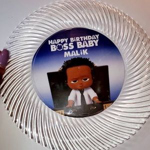 Personalized Boss Baby Party Plates